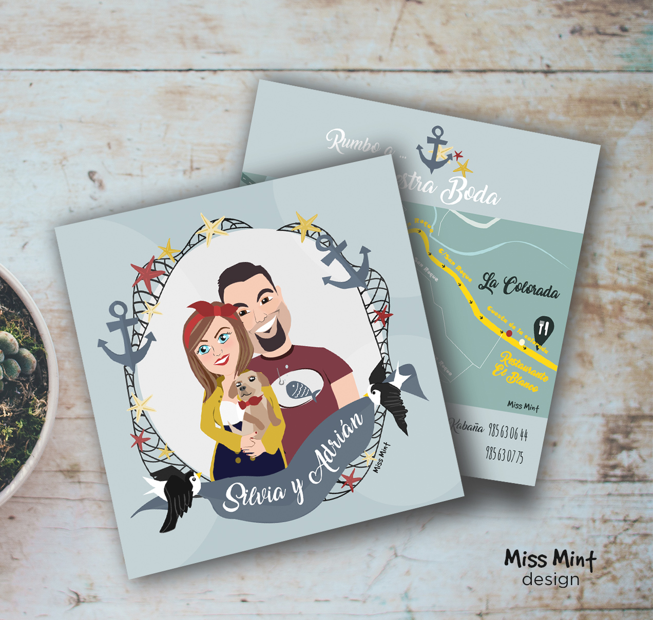 invitaciones de boda personalizadas y exclusivas miss mint