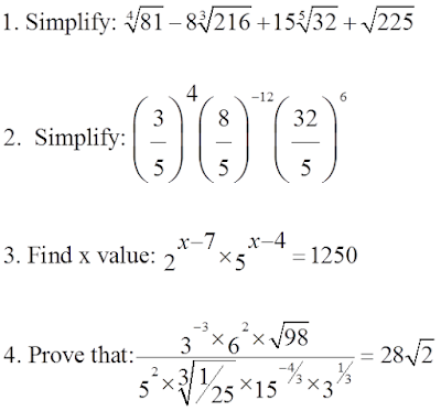 Laws of Exponents for Real Numbers