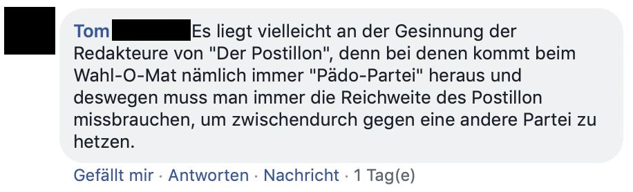 Postillon Wahl-O-Mat
