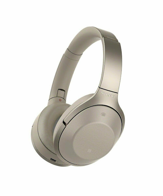 Sony MDR-1000X Wireless Bluetooth Noise Cancelling Headphones Beige