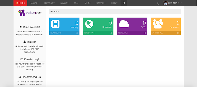 hostinger free web hosting cpanel