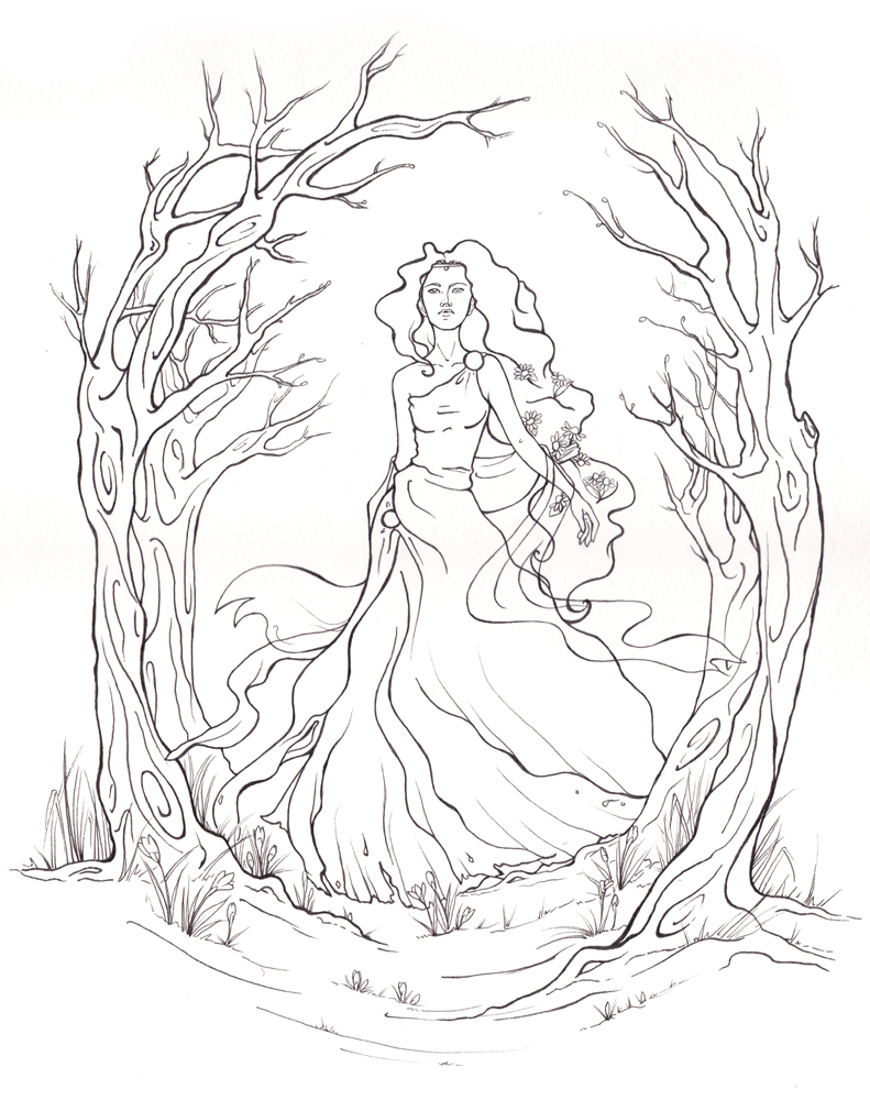 persephone coloring pages - photo #1