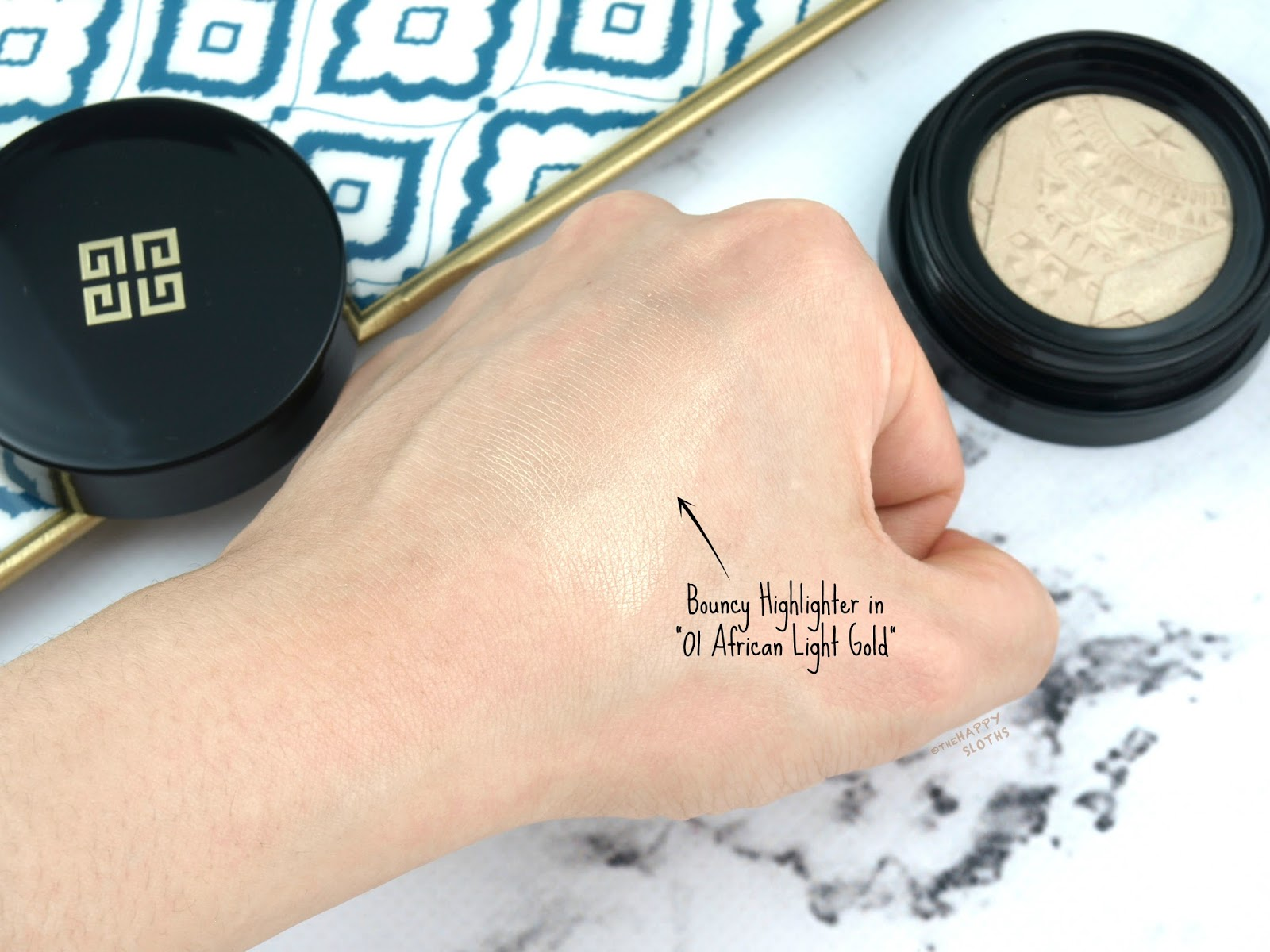 "Givenchy | Bouncy Highlighter in ""01 African Light Gold"": Review and Swatches"