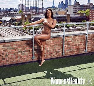 Alexandra Burke strips completely naked for women's health magazine