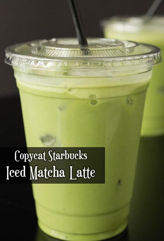 COPYCAT STARBUCKS ICED MATCHA LATTE #Starbucks #IceMatchaLatte #Matcha #Latte
