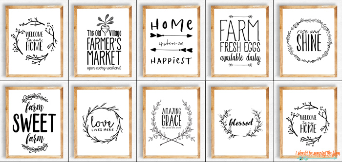 11 Farmhouse Printables