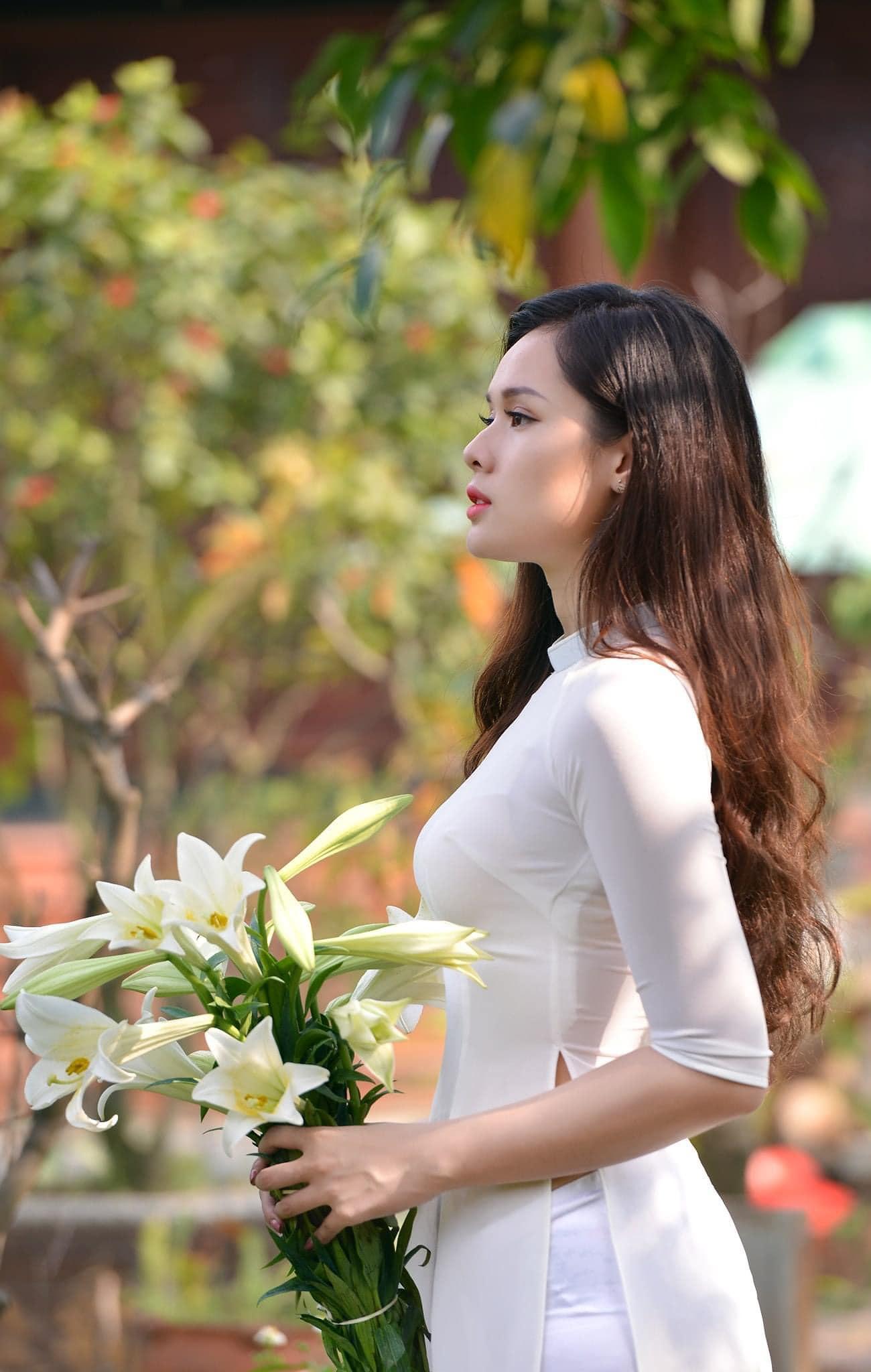 Tuyển tập girl xinh gái đẹp Việt Nam mặc áo dài đẹp mê hồn #57 - 6