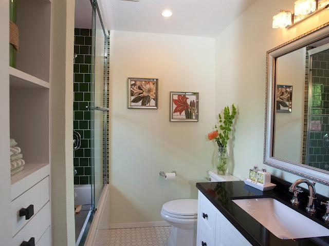 modern welcoming guest bathroom design