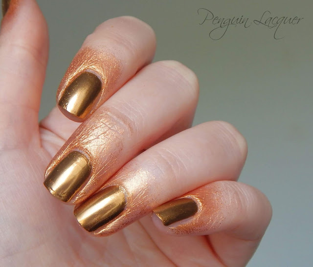p2 motown glam chromatic nail powder gold ohne reinigung