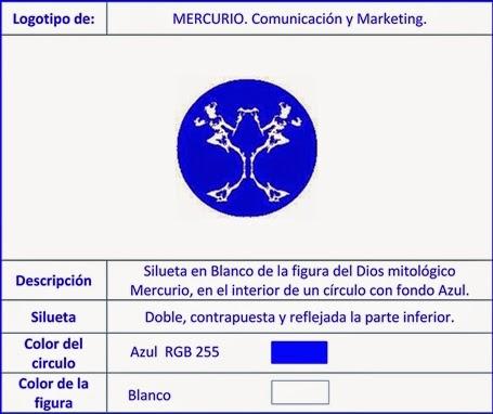 Creación y diseño del logotipo de MERCURIO. Comunicación y Marketing.