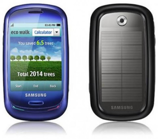 smartphone with a solar battery