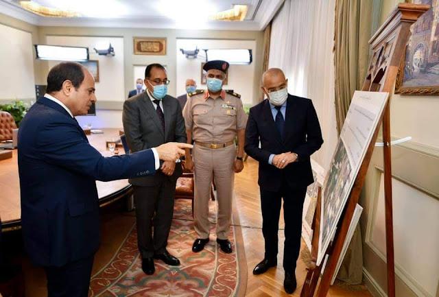 الرئيس السيسي يتابع تطوير محاور ربط مناطق شرق وغرب القاهرة