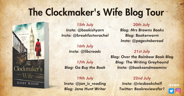 The Clockmaker's Wife by Daisy Wood book blog tour banner