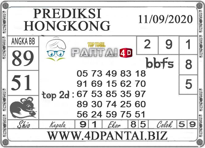 PREDIKSI TOGEL HONGKONG PANTAI4D 11 SEPTEMBER 2020