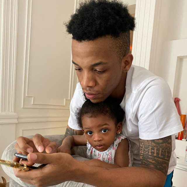 Tekno and his beautiful daughter, Skye
