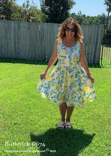 Butterick 6674 sundress pattern by SharonSews