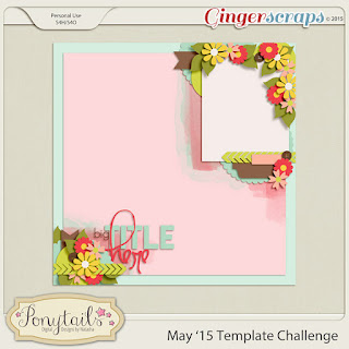 Ginger scraps May 2015 Template Challenge #1 by Ponytails Designs