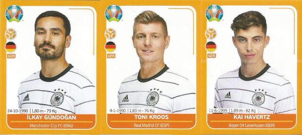 Panini - UEFA Euro 2020 Preview (17) - Orange - GER1-GER26 - Germany
