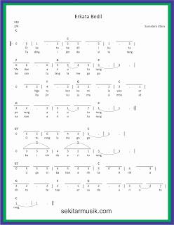 not angka erkata bedil lagu daerah sumatera utara