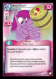 My Little Pony Berry Punch, Drink Up! Equestrian Odysseys CCG Card