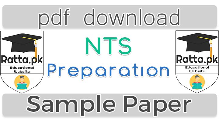 NTS Preparation Sample Test online