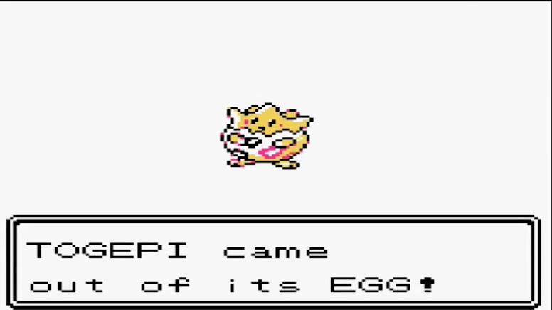 Pokémon Gold e Silver Togepi Egg