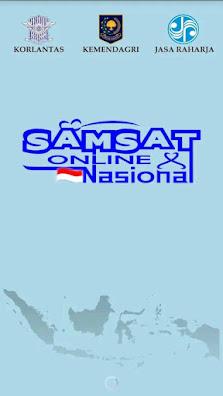 Tampilan Samsat online Nasional untuk pembayaran pajak kendaraan bermotor