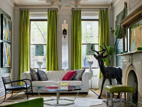 Diseño sala colores vivaces