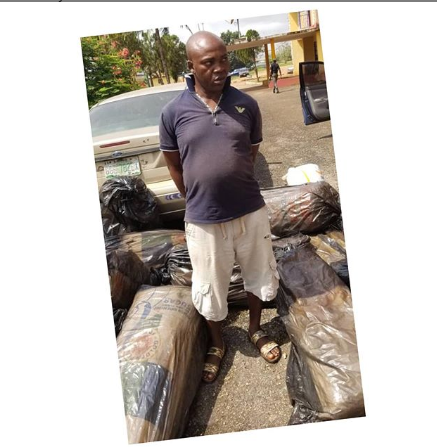 Police Arrest Man With  17 Sacks Of Indian Hemp