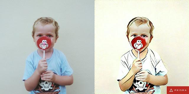 Esempio di effetto con Prisma Foto