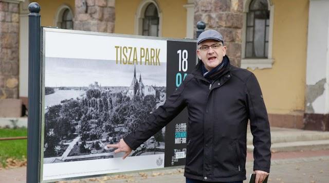Tablók mutatják be a szolnoki Tisza park nevezetességeit