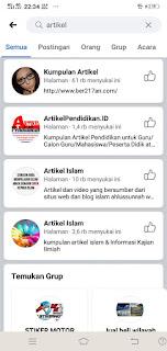 Cara melakuakan pencarian di facebook