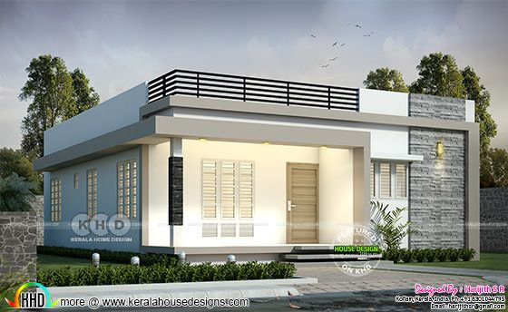 1144 sq-ft 2 BHK single floor house plan