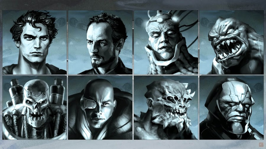 superman game scrapped character concept art man of steel general zod brainiac parasite metallo lex luthor doomsday darkseid