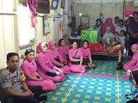 Kapolres Asahan bersama Ketua Bhayangkari Kunjungi Warga Penderita Kanker