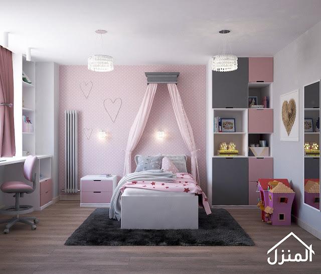 صور ديكور غرف نوم زهري وردي
