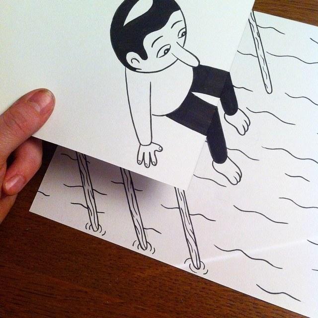 gambar kartun yang kreatif dan terlihat hidup-19