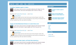 Blogger Template Page One Mas