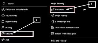 Cara Mengganti Password Instagram