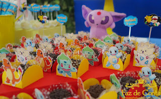 Doces Festa Pokemon