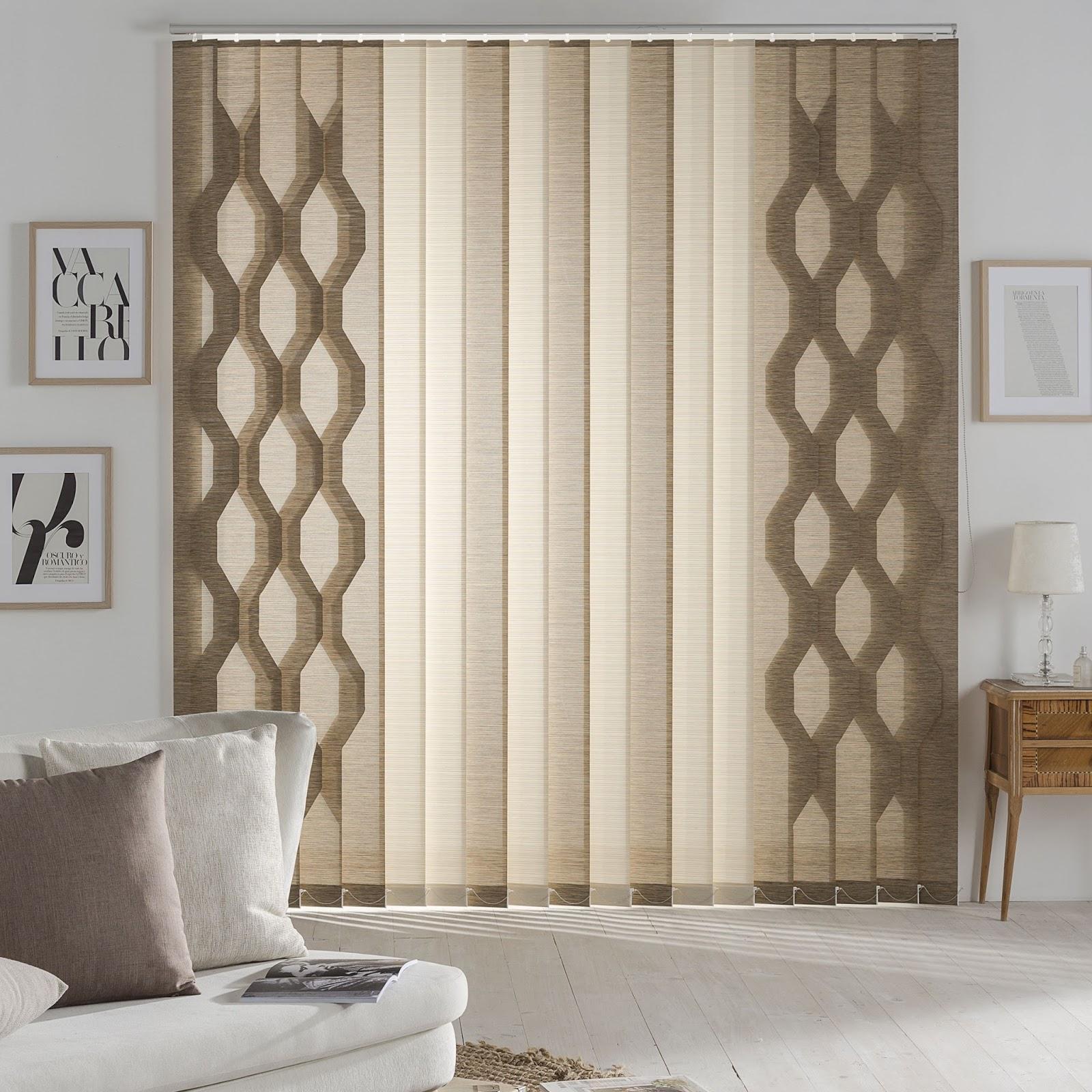 Cortinas siseo, unas cortinas verticales con formas originales | El ...