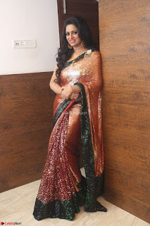 Udaya Bhanu lookssizzling in a Saree Choli at Gautam Nanda music launchi ~ Exclusive Celebrities Galleries 114.JPG