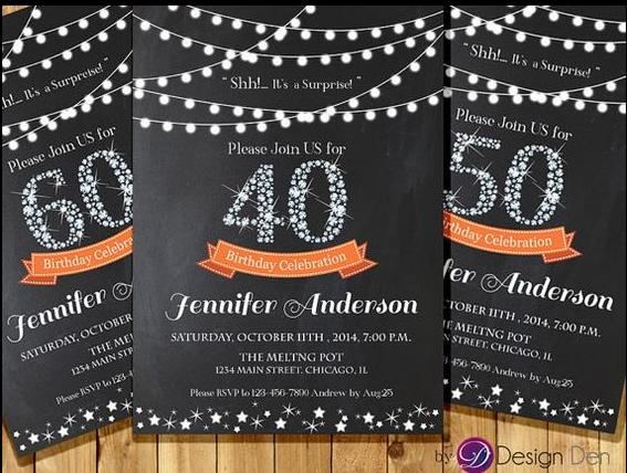 Best 40th Birthday Celebration Ideas