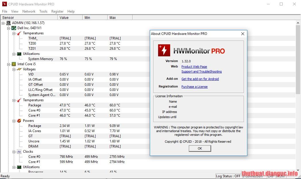 Download CPUID HWMonitor Pro 1.39 Full Crack
