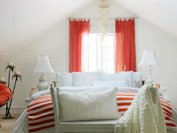Orange & White Bedroom