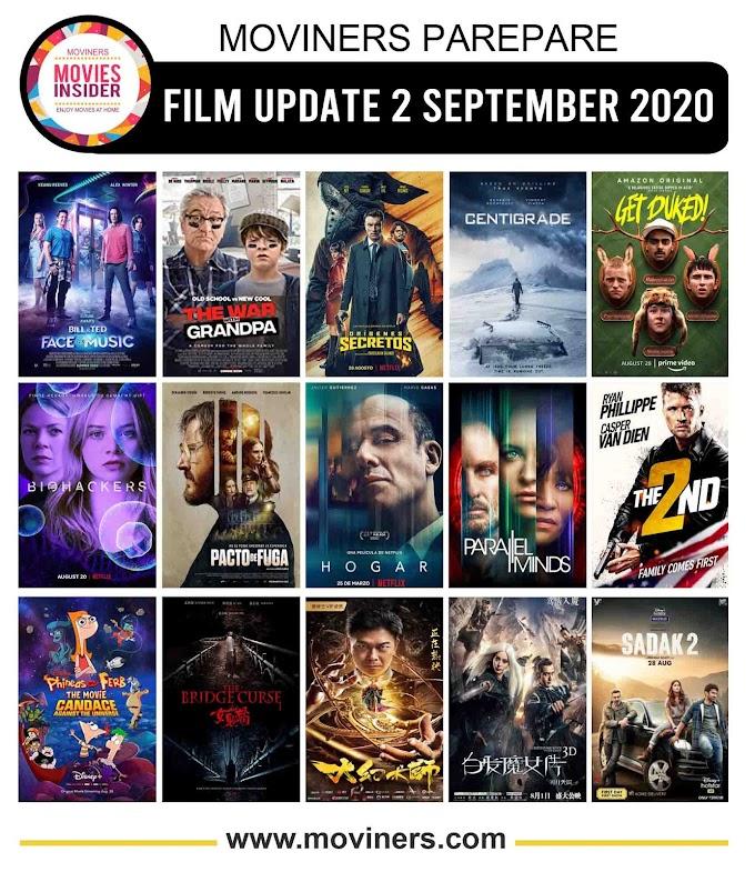 FILM UPDATE 2 SEPTEMBER 2020