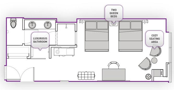 Cosmopolitan las vegas two bedroom city suite