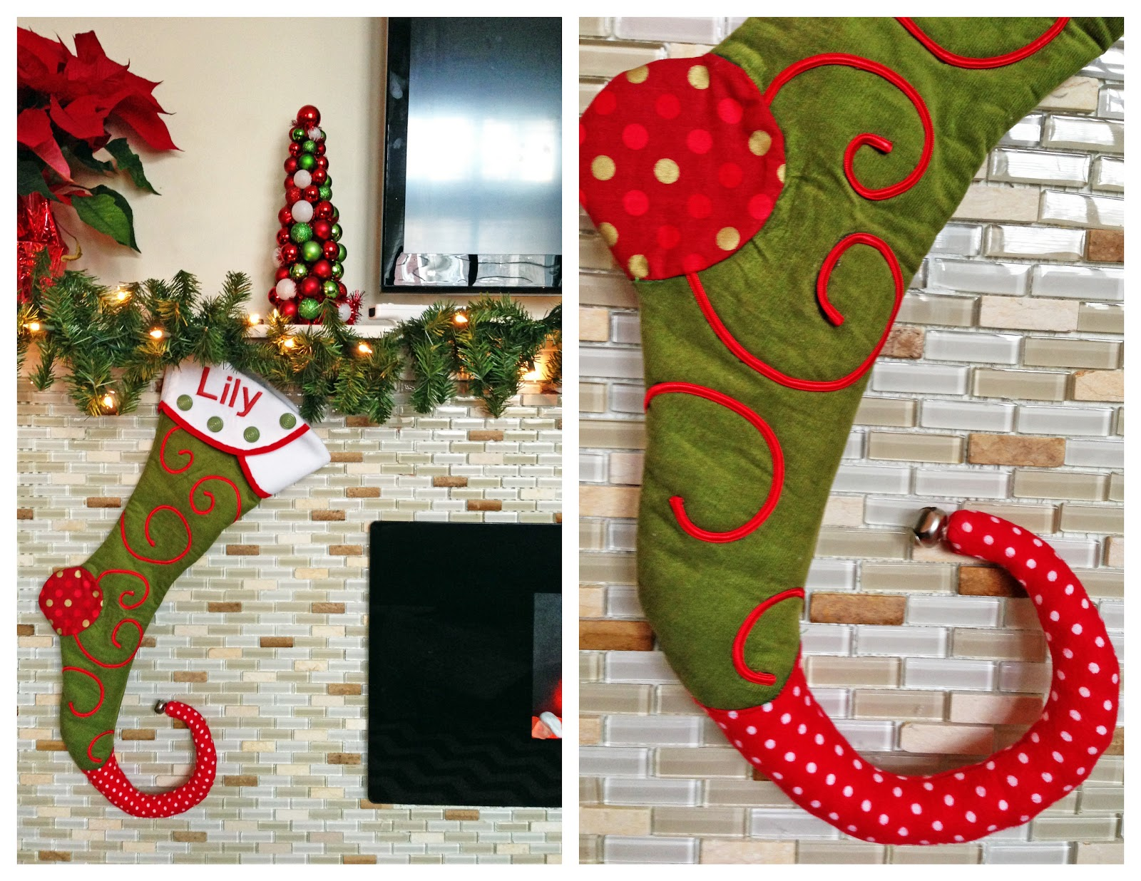picture about Free Printable Christmas Stocking Pattern referred to as Grosgrain: Wonderful Tailored Xmas Stocking Practice