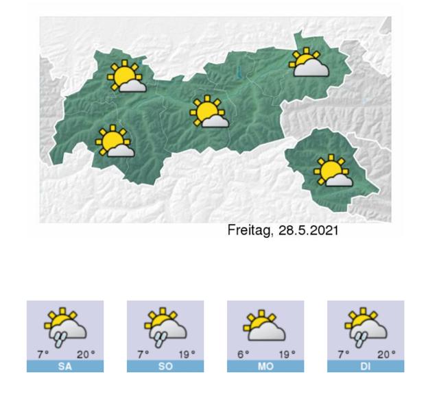 Vergleichsweise viel Sonne gibt es nur heute am 28.05.2021... (c) ZAMG-Wetterdienststelle