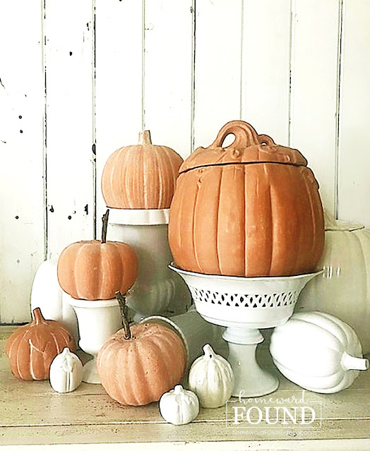 art class, color, color palettes, crafting, crafting with kids, decorating, DIY, diy decorating, fall, painting, pumpkins, re-purposing, up-cycling, tutorial, painting tutorial, faux paint treatment, faux terra cotta paint tutorial, painted pumpkins, fall decor, front porch decor, october decorating, farmhouse style, boho style, rustic style, cottage style, faux terra cotta pumpkins, use what you have decorating, autumn decor, Halloween decor